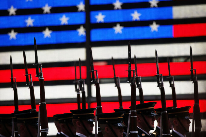 U.S. Army Marks 240th Birthday In Times Square