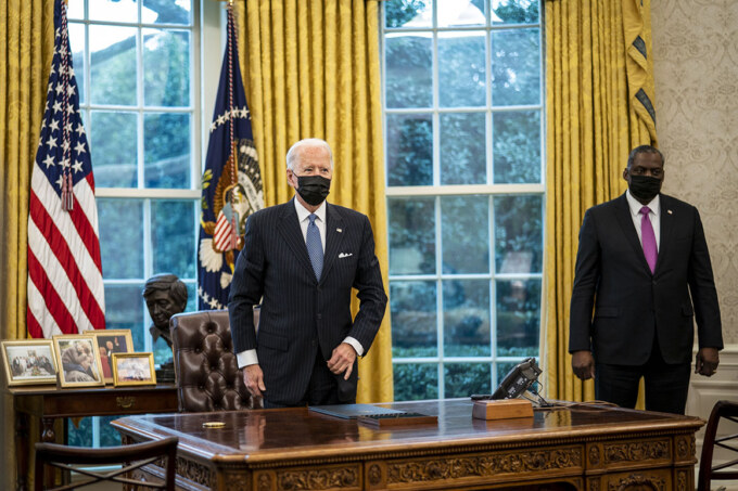 President Biden Meets With Vice President And Top Defense Advisors