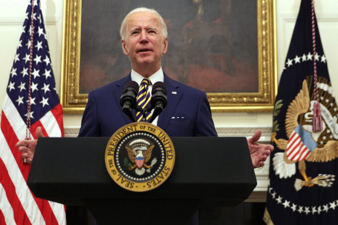 President Biden Delivers Remarks On Response To Economic Crisis From White House